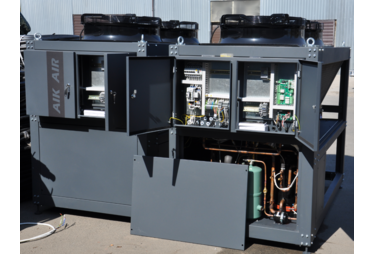 В 2020 году компания «АИК ГРУПП» получила заказ в производство трех тепловых насосов типа воздух-вода
